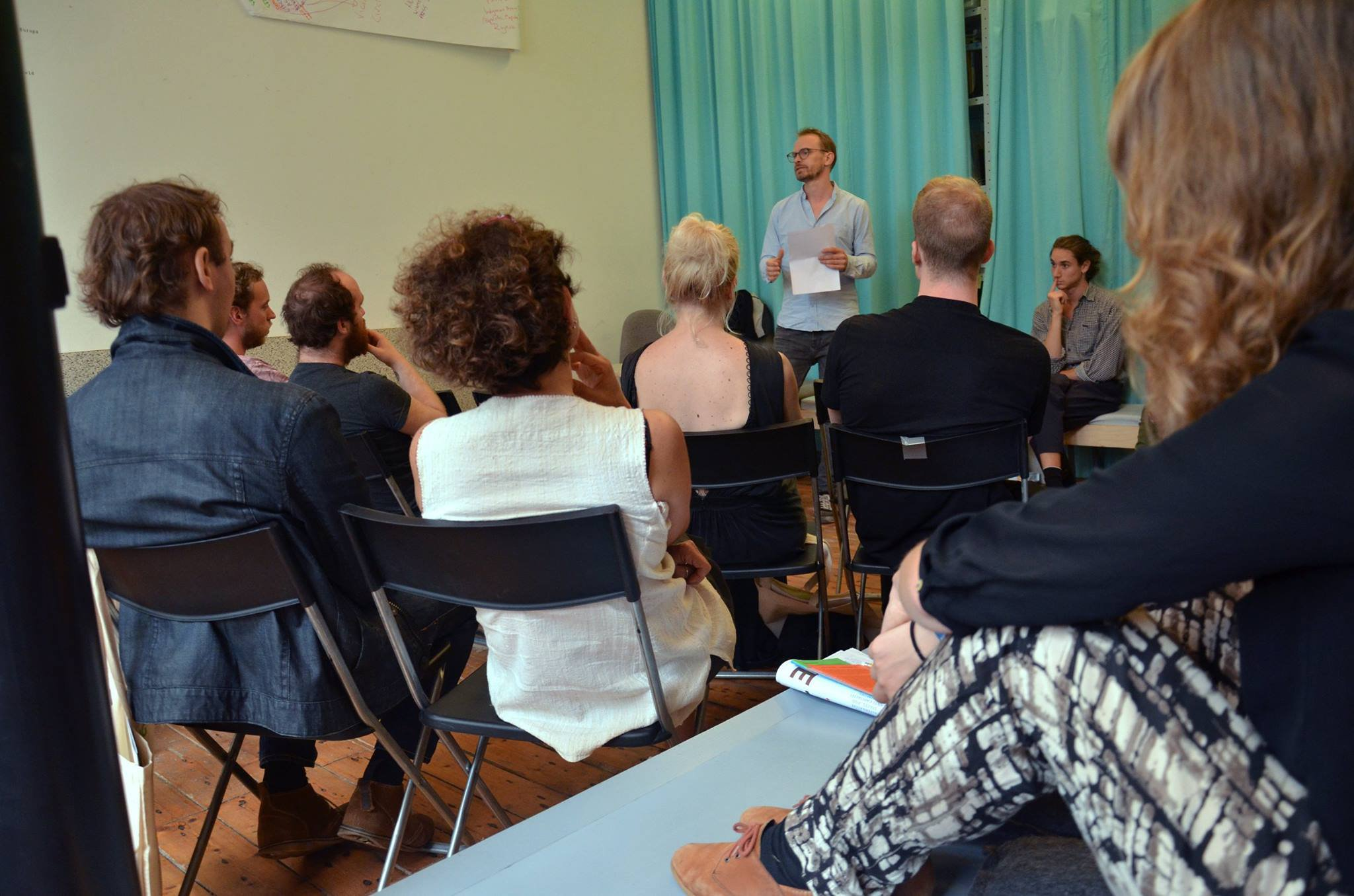 Lecture by Merijn Oudenampsen, photo by Whitney Stark (September 2016)