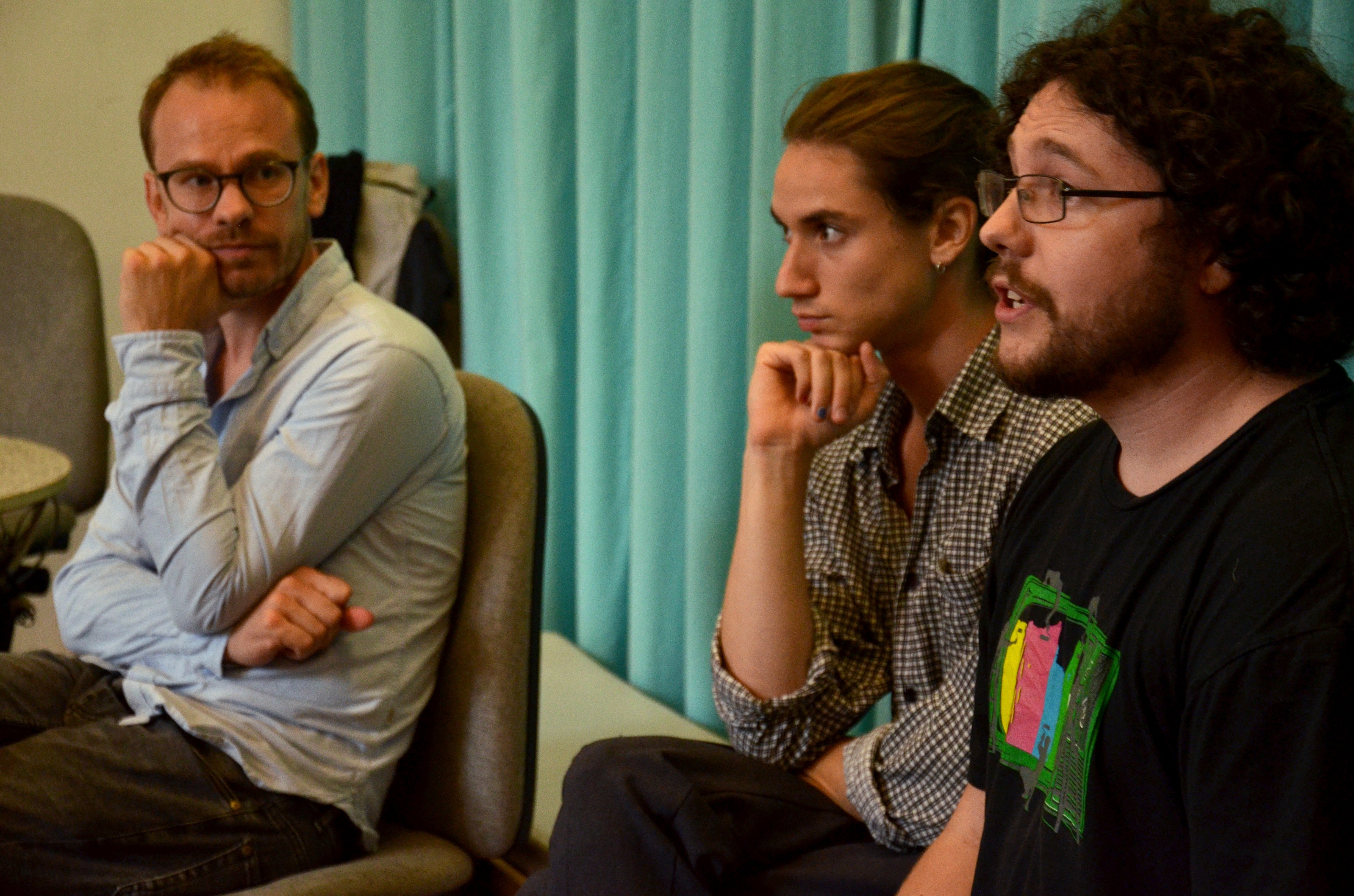 Lecture by Merijn Oudenampsen, photo by Whitney Stark (September 2016)