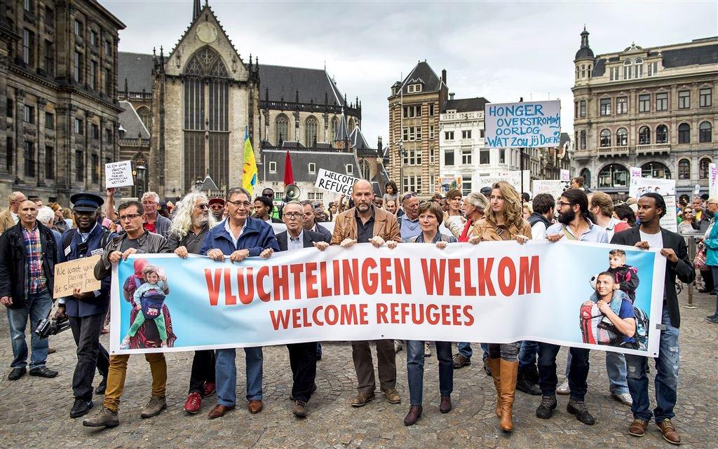 'Vluchtelingen welkom' (Amsterdam 2015)