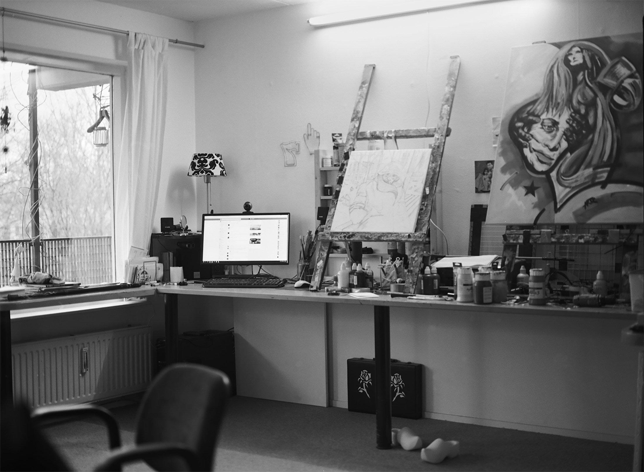 De woonkamer van Hanz / Hanz's living room
